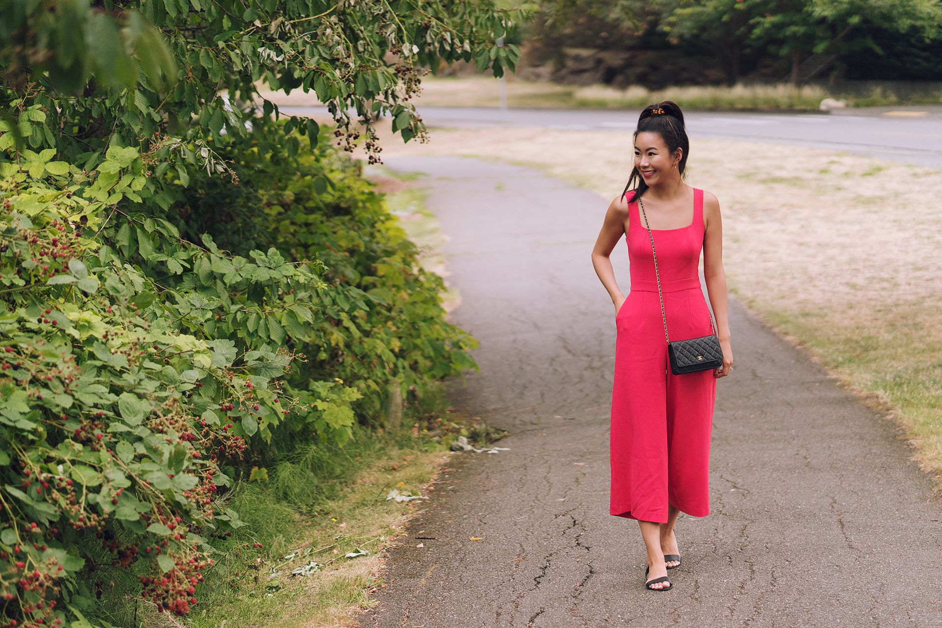 red coral jumpsuit