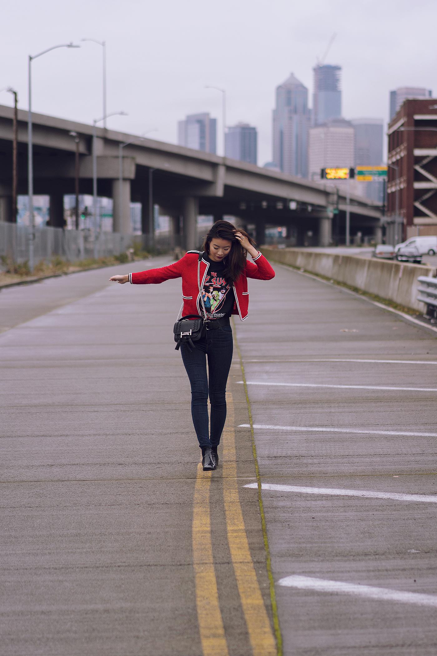 The Kooples red jacket