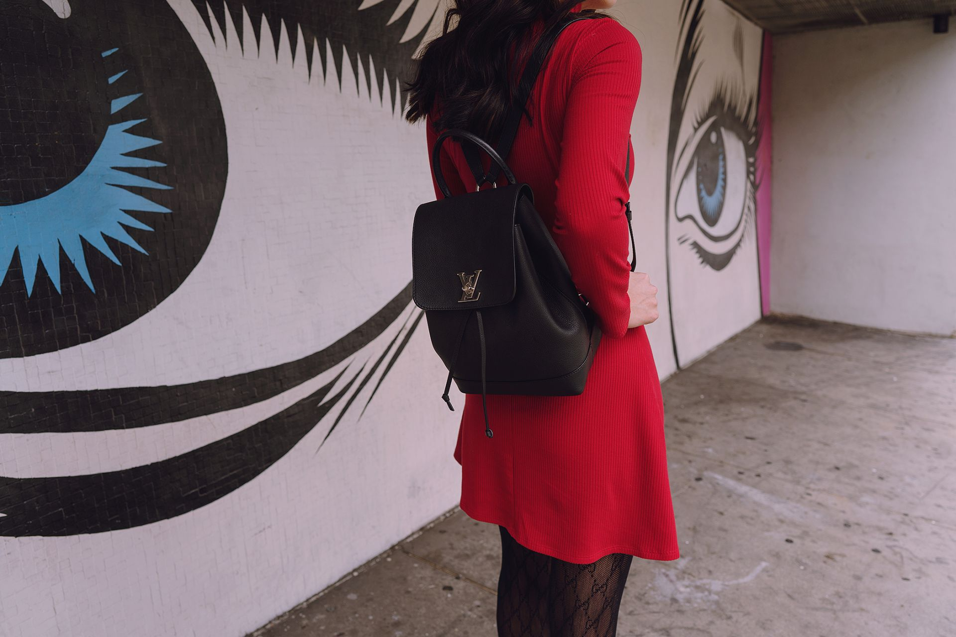 Louis Vuitton Lockme backpack bag
