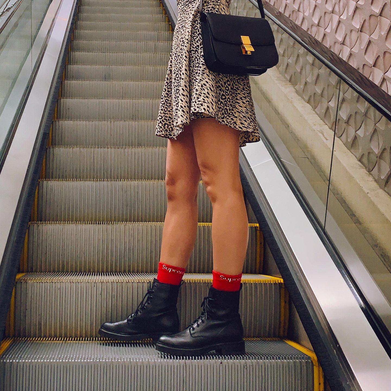 Supreme Hanes red socks