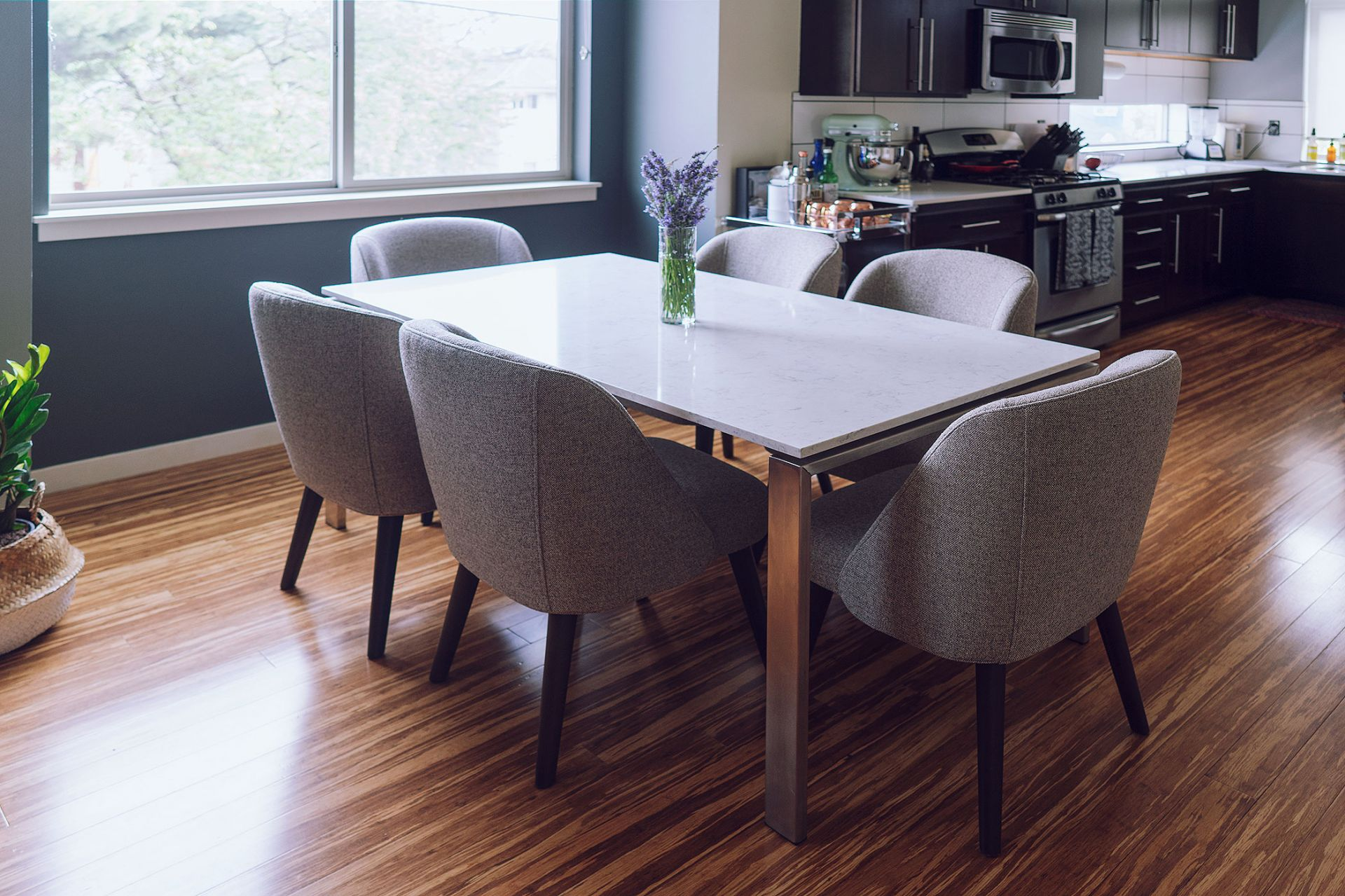 Room and Board dining table chairs