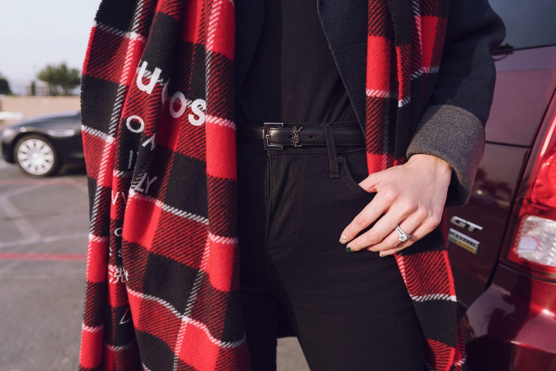 Louis Vuitton Saint Laurent monogram belt