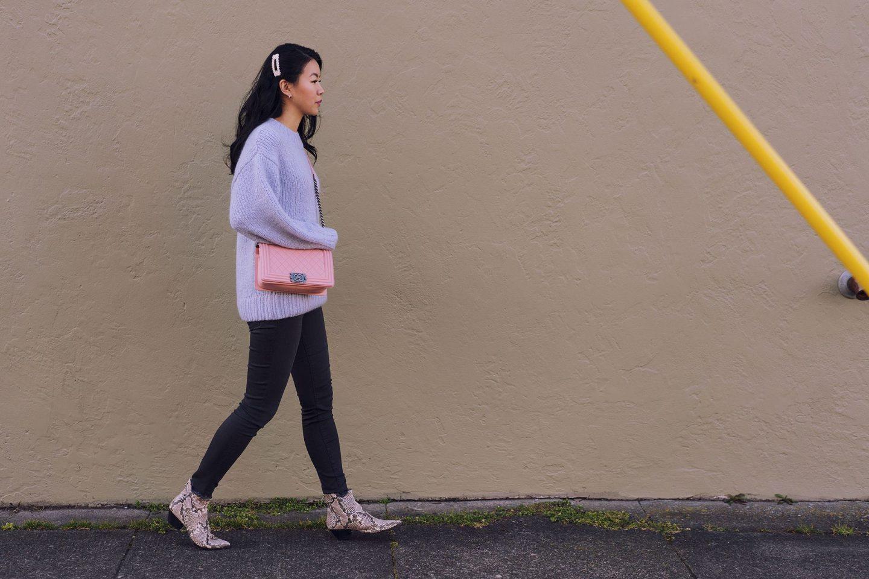 Chanel blush pink Boy bag