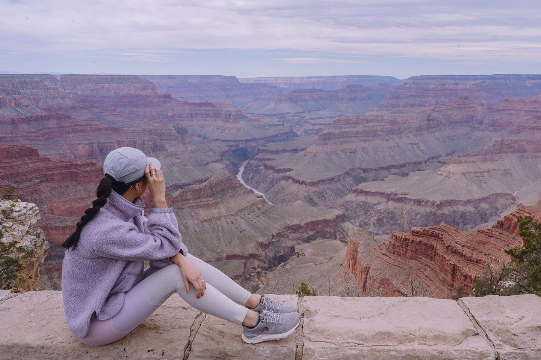 Grand Canyon South Rim Trail hike Kaibab Hermits Rest Colorado River Mojave Point