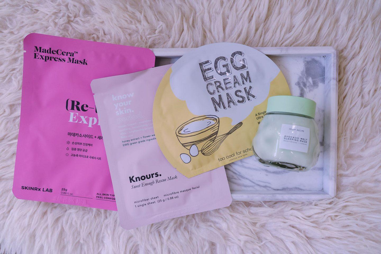 Korean beauty skincare face sheet sleeping mask