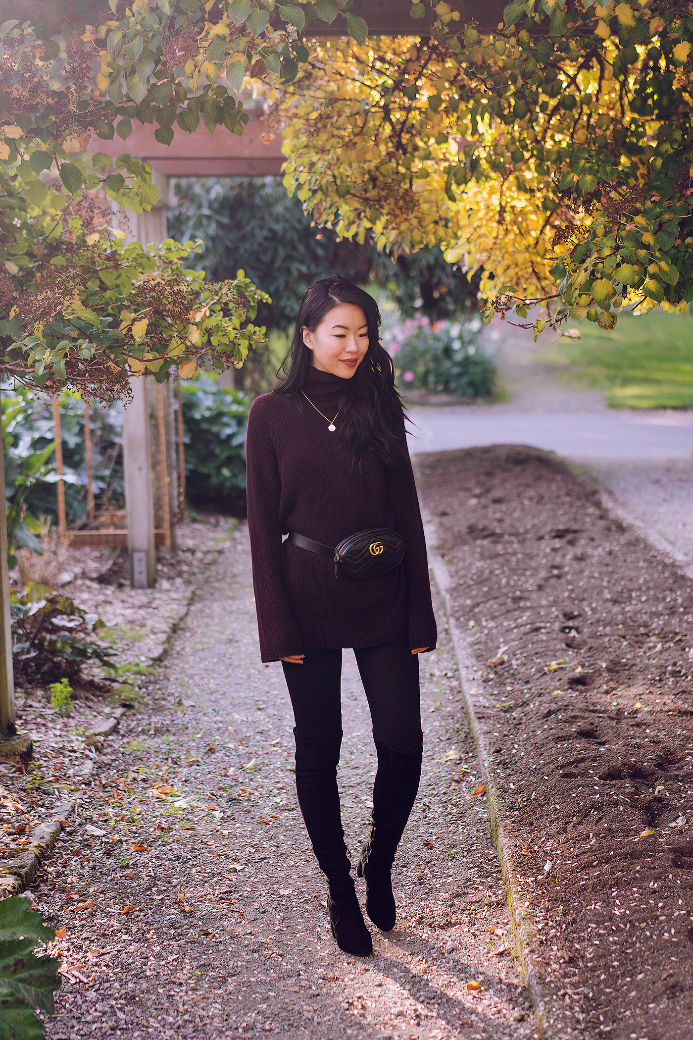 fall autumn outfit sweater boots