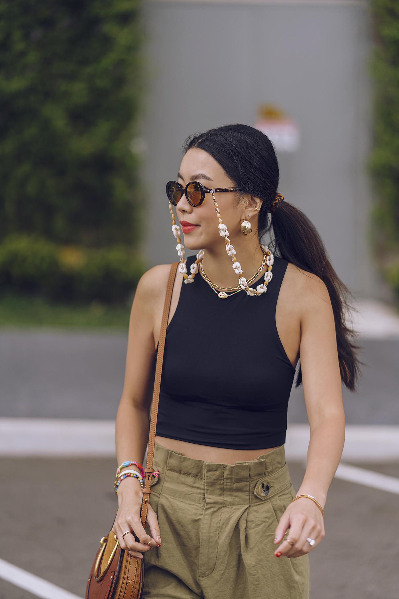 puka shell sunglasses chain