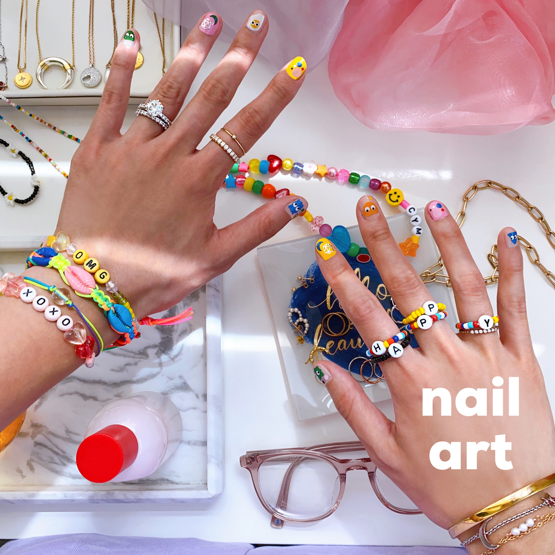 DIY nail sticker art manicure tutorial