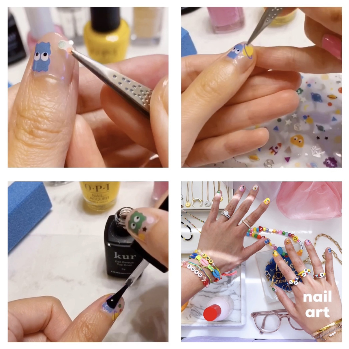 nail sticker art
