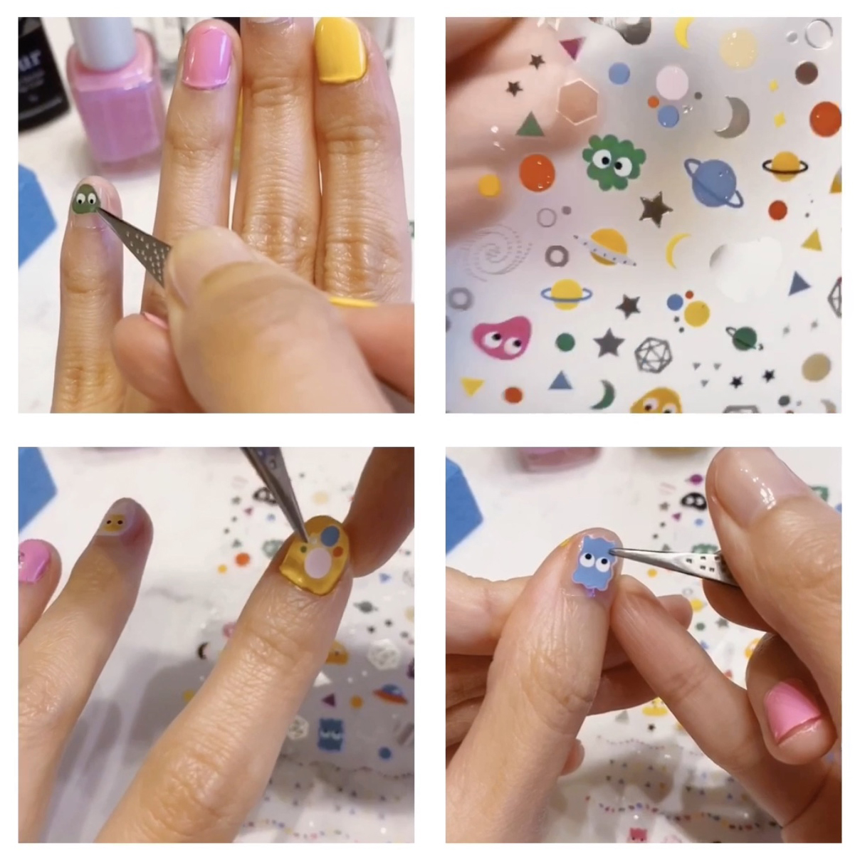 nail sticker art manicure