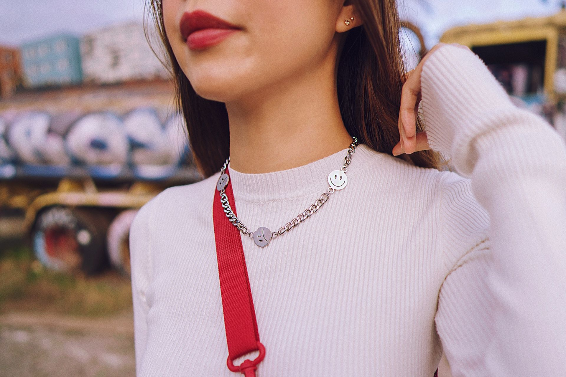 Aurate gold diamond stud earrings