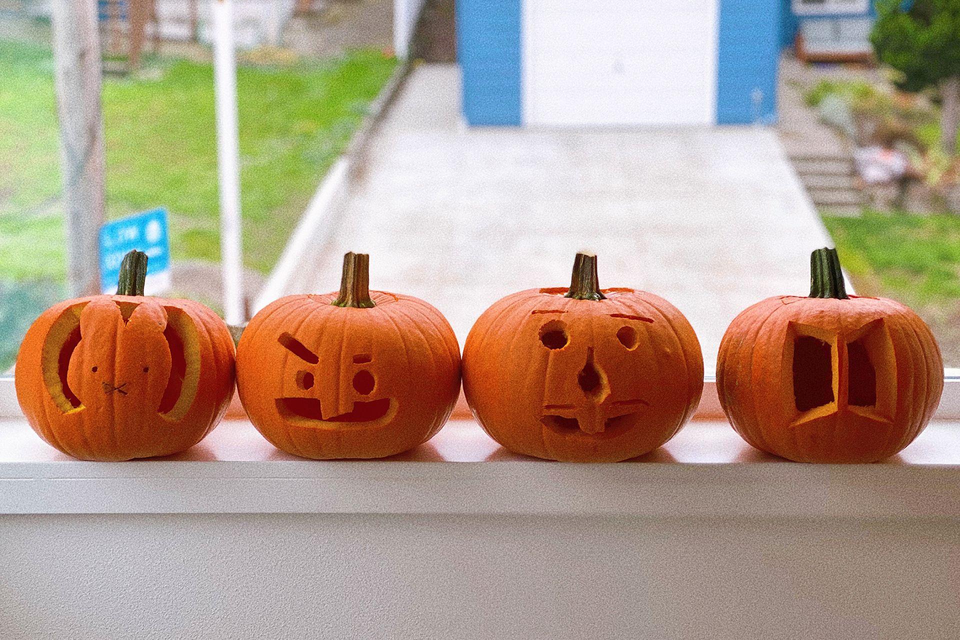 BTS ARMY BT21 Shooky Miffy pumpkin carving