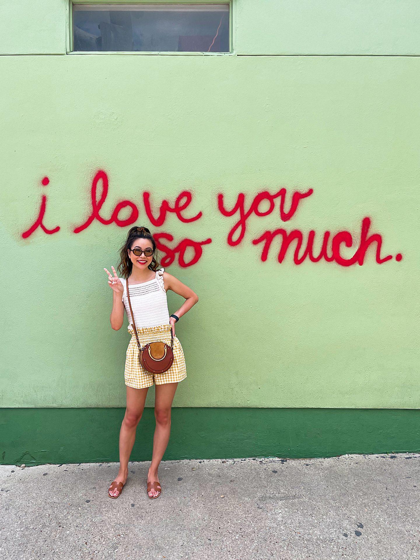 Austin Texas Jo's Coffee I Love You So Much art wall
